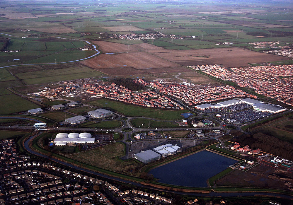 Northern road network now open. Housing development started by: Wimpey, Beal Developments, David Wilson Homes, Persimmon Homes and Barratt Developments. Bonus Electric come to site